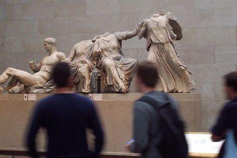 פסלים מגמלון הפרתנון. צילום מויקיפדיה